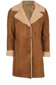 Arma | Suède lammy coat Manja | bruin  | Afbeelding 1