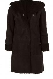 Su�de lammy coat Aurille | black