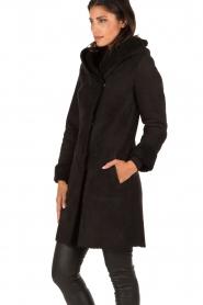 Arma | Suède lammy coat Aurille | zwart  | Afbeelding 3