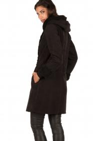 Arma | Suède lammy coat Aurille | zwart  | Afbeelding 4