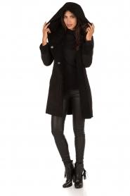 Arma | Suède lammy coat Aurille | zwart  | Afbeelding 5