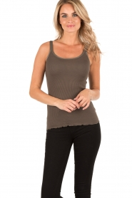Silk top Ilse | olive green