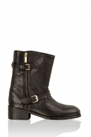 Leather biker boots Lea | black