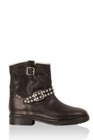 Leather biker boots Stewart Roma | black
