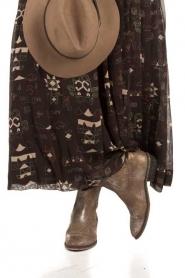 Catarina Martins   Leren enkellaarzen Olsen Claudia   metallic bruin     Afbeelding 2