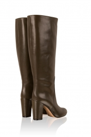 Leather boots Make My Day | dark green