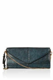 Leather clutch Nia | blue