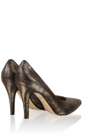 Leather pump Nicole | navy blue
