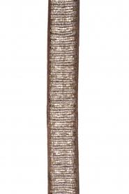 Leather belt Beaded | grey