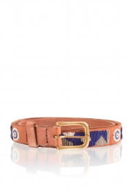Leather belt Charu | blue