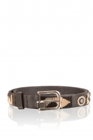 Leather belt Charu | black