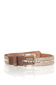 Leather belt Shell | brown