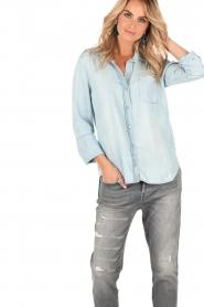 Bella Dahl | Denim blouse Mel | blauw  | Afbeelding 2