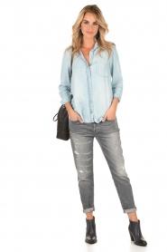 Bella Dahl | Denim blouse Mel | blauw  | Afbeelding 3
