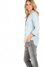 Denim blouse Mel | blauw