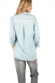 Bella Dahl | Denim blouse Mel | blauw  | Afbeelding 5