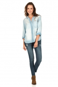 Denim blouse Evy | blauw