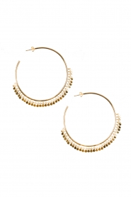 Close to Zen |  22ct plated earrings Circle of Dots | gold  | Picture 1