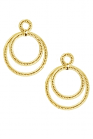 22k gold plated earrings Circle of Hapiness | gold