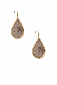 Close to Zen |  22ct plated earrings Little Tears Of Joy | natural  | Picture 1