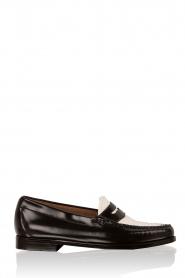G.H. Bass & Co. | Leren loafers Weejun Penny | zwart  | Afbeelding 1