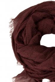 American Vintage | Sjaal Caldwell | zwart/rood  | Afbeelding 3