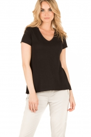 American Vintage | T-shirt Jacksonville | zwart  | Afbeelding 2