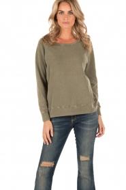 American Vintage | Sweater Jaguar | groen  | Afbeelding 2