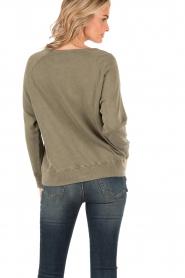 American Vintage | Sweater Jaguar | groen  | Afbeelding 4