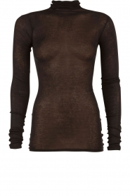 Turtleneck top Massachusetts | zwart