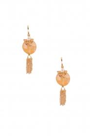 Satellite Paris | 14k verguld gouden oorbellen Leia | licht oranje  | Afbeelding 2