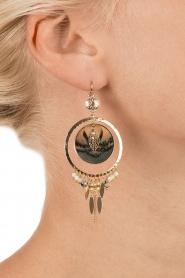 Satellite Paris | 14k verguld gouden oorbellen Theresia | Groen  | Afbeelding 3