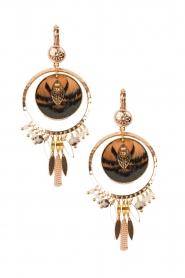 14k gilded gold earrings Theresia | Green