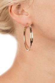 Satellite Paris | 14k verguld gouden oorbellen Naima | Bruin  | Afbeelding 3