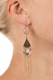 Satellite Paris | 14k verguld gouden oorbellen Fay | paars  | Afbeelding 3