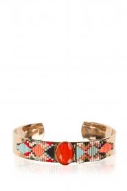 Satellite Paris | 14k verguld gouden armband Nancy | Oranje  | Afbeelding 2