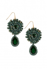 Earrings Crochet | Green