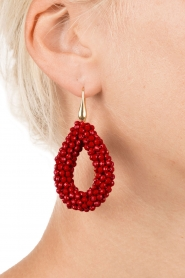 Earrings Midnight Drops | red