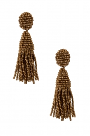 Earrings Short Copper Crystal Tassles | Gold