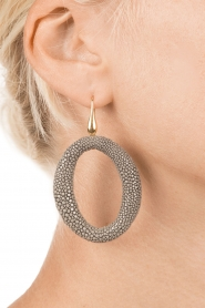 Miccy's |  Earrings Stingray Hoops | steel grey  | Picture 3