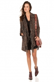 Coat Eleonora | blue/brown