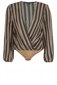 ELISABETTA FRANCHI |  Body blouse Emilio | blackarmy green  | Picture 1
