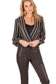 ELISABETTA FRANCHI |  Body blouse Emilio | blackarmy green  | Picture 2