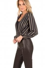 ELISABETTA FRANCHI |  Body blouse Emilio | blackarmy green  | Picture 4