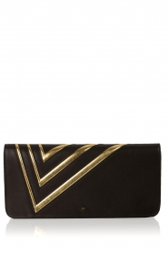 ELISABETTA FRANCHI | Leren clutch Fienne | zwart  | Afbeelding 1