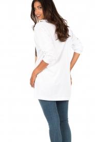 ELISABETTA FRANCHI | Lang T-shirt Animal | wit  | Afbeelding 5
