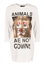 Lang T-shirt Animal | wit