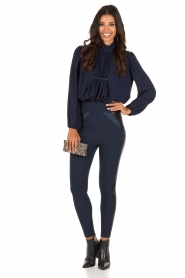 ELISABETTA FRANCHI | High waist legging Celino | donkerblauw  | Afbeelding 3