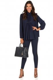 ELISABETTA FRANCHI | High waist legging Celino | donkerblauw  | Afbeelding 6