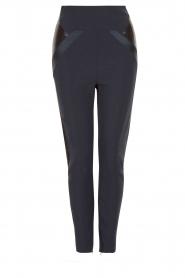 ELISABETTA FRANCHI | High waist legging Celino | donkerblauw  | Afbeelding 1